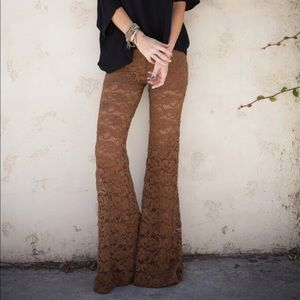a1469ce6cbf48 Nightcap Pants | Dixie Lace Bells In Tobacco | Poshmark